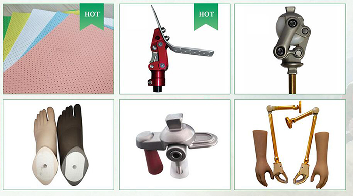 prosthetic adapter manufacture artificial limbs parts stainless Extended rotating four jaws